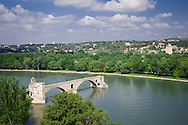 The Pont St. Benezet on the Rhone River in Avignon, France