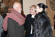 FRANCESCO CLEMENTE;  ; NICK RHODES;  NEFER SUVIO,, Mandala for Crusoe, Exhibition of work by Francesco Clemente. Blain/Southern. Hanover Sq. London. 29 November 2012