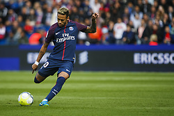 September 30, 2017 - Paris, France - Paris Saint-Germain's Brazilian forward Neymar shoots to score a free kick during the French L1 football match between Paris Saint-Germain and Bordeaux at the Parc des Princes stadium in Paris on September 30, 2017. (Credit Image: © Geoffroy Van Der Hasselt/NurPhoto via ZUMA Press)