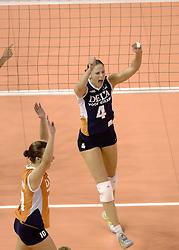 28-09-2006 VOLLEYBAL: KWALI WGP2007: NEDERLAND - AZERBEIDZJAN: VARNA<br /> Na een moeizaam begin versloeg Nederland het tot dusver opvallend sterke Azerbeidzjan met 3-1 (19-25 25-20 26-24 25-14) / Na een moeizaam begin versloeg de ploeg van bondscoach Avital Selinger het tot dusver opvallend sterke Azerbeidzjan met 3-1 (19-25 25-20 26-24 25-14) / Chaine Staelens<br /> ©2006: WWW.FOTOHOOGENDOORN.NL