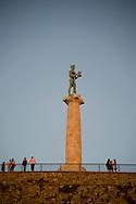 The Pobednik (Victor) Statue, a symbol of Belgrade in Kalemegdan Park, Belgrade, Serbia