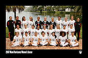 2007 Miami Hurricanes Women's Soccer Team Photo