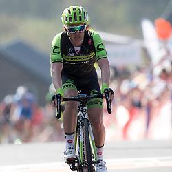 22-04-2015: Wielrennen: Waalse Pijl mannen: Huy  <br /> Huy (BEL) Cycling: <br /> De eerste wedstrijd in het Ardens tweeluik is de Waalse Pijl. Met drie keer de beklimming van de Muur van Huy. <br /> Tom Jelte Slagter werd negende op de muur van Huy
