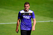 Pierce Sweeney (2) of Exeter City warming up before the EFL Sky Bet League 2 match between Exeter City and Lincoln City at St James' Park, Exeter, England on 19 August 2017. Photo by Graham Hunt.