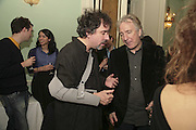 TIM BURTON AND ALAN RICKMAN, PARTY AT DARTMOUTH HOUSE AFTER A PREMIERE SCREENING OF PERFUME AT THE CURZON. LONDON.<br />5 December 2006. ONE TIME USE ONLY - DO NOT ARCHIVE  © Copyright Photograph by Dafydd Jones 248 CLAPHAM PARK RD. LONDON SW90PZ.  Tel 020 7733 0108 www.dafjones.com