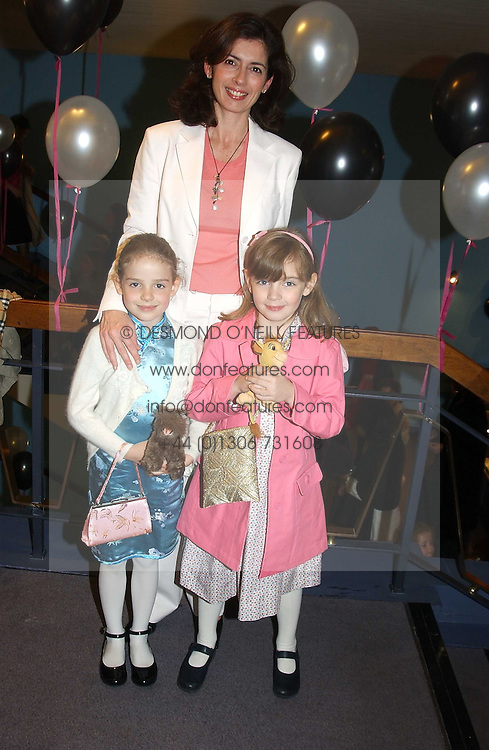 ALEX BUTTERWORTH-FOWLER and her daughters Left, PHEOBE and right, HONOR at a performance by the London Childrens Ballet of 'The Little Princess' at The Peacock Theatre, Portugal Street, London WC2 on 19th May 2005.<br /><br />NON EXCLUSIVE - WORLD RIGHTS