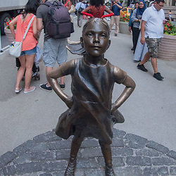 Defiant Girl, Wall Street, Manhattan, New York, US