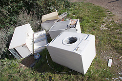 Fly tipping of domestic appliances,