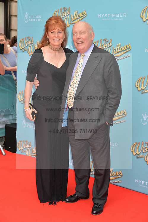 Sarah, Duchess of York and Lord Fellowes arriving at The opening night of Wind in The Willows at the London Palladium, Argyll Street, London England. 29 June 2017.<br /> Photo by Dominic O'Neill/SilverHub 0203 174 1069 sales@silverhubmedia.com