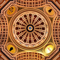 Pennsylvania State Capitol Rotunda Dome in Harrisburg, Pennsylvania<br />