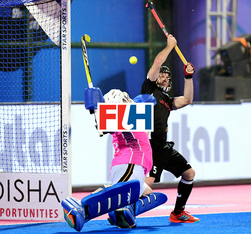 Odisha Men's Hockey World League Final Bhubaneswar 2017<br /> Match id:21<br /> India v Germany<br /> Foto: keeper Tobias Walter (Ger) and Phillipp Huber (Ger) <br /> COPYRIGHT WORLDSPORTPICS FRANK UIJLENBROEK