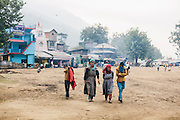 Kullu people in Traditional attire walking towards the camera at Dhalpur, Kullu. Kullu Dussehra is the Dussehra festival observed in the month of October in Himachal Pradesh state in northern India. It is celebrated in the Dhalpur maidan in the Kullu valley. Dussehra at Kullu commences on the tenth day of the rising moon, i.e. on 'Vijay Dashmi' day itself and continues for seven days. Its history dates back to the 17th century when local King Jagat Singh installed an idol of Raghunath on his throne as a mark of penance. After this, god Raghunath was declared as the ruling deity of the Valley.