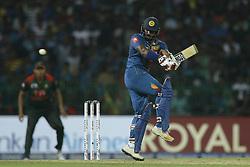 March 10, 2018 - Colombo, Sri Lanka - Sri Lankan cricketer Kusal Perera plays a shot during the 3rd T20 cricket match of NIDAHAS Trophy between Sri Lanka  and Bangladesh at R Premadasa cricket ground, Colombo, Sri Lanka on Saturday 10 March 2018. (Credit Image: © Tharaka Basnayaka/NurPhoto via ZUMA Press)