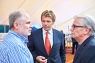 Warsaw, Poland - 2016 September 24: (L-R) Miroslaw Zukowski and Adam Romer and Andrzej Fafara talk each other while The 25th Anniversary Party of TieBreak Tennis Club on September 24, 2016 in Warsaw, Poland.<br /> <br /> Poland, Warsaw, September 24, 2016<br /> <br /> Adam Nurkiewicz declares that he has no rights to the image of people at the photographs of his authorship.<br /> <br /> Picture also available in RAW (NEF) or TIFF format on special request.<br /> <br /> Any editorial, commercial or promotional use requires written permission from the author of image.<br /> <br /> Mandatory credit:<br /> Photo by © Adam Nurkiewicz / Mediasport