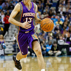 December 30, 2011; New Orleans, LA, USA; Phoenix Suns point guard Steve Nash (13) during the third quarter of a game against the New Orleans Hornets at the New Orleans Arena. The Suns defeated the Hornets 93-78.   Mandatory Credit: Derick E. Hingle-US PRESSWIRE