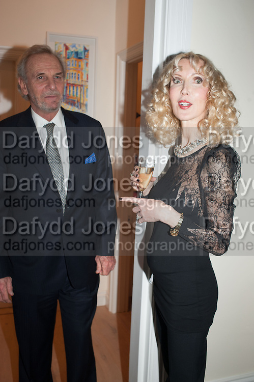 MARK SHAND; BASIA BRIGGS, Drinks party given by Basia and Richard Briggs,  Chelsea. London. SW3. 13 February 2014.