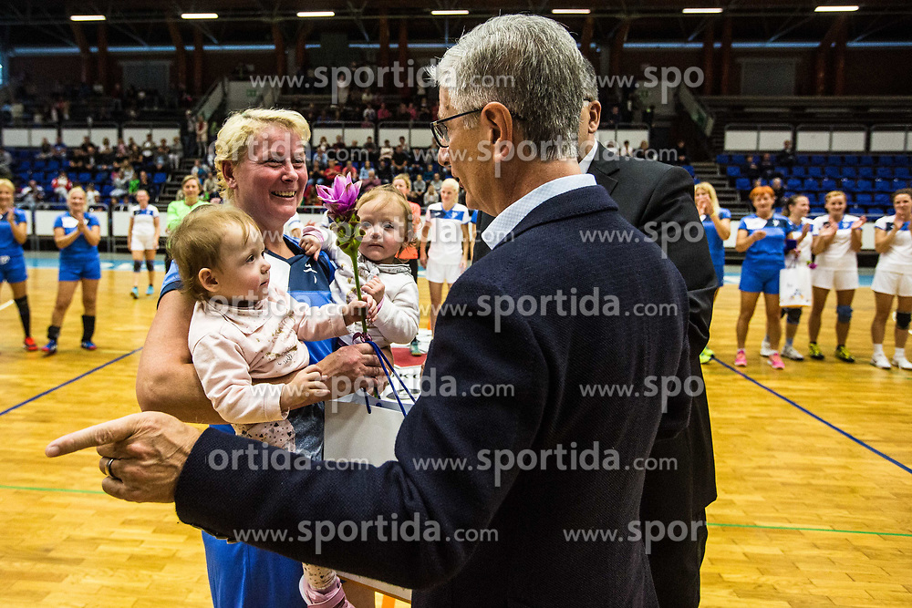 Exhibition game of Slovenian women handball legends on 29th of September, Celje, Slovenija 2018