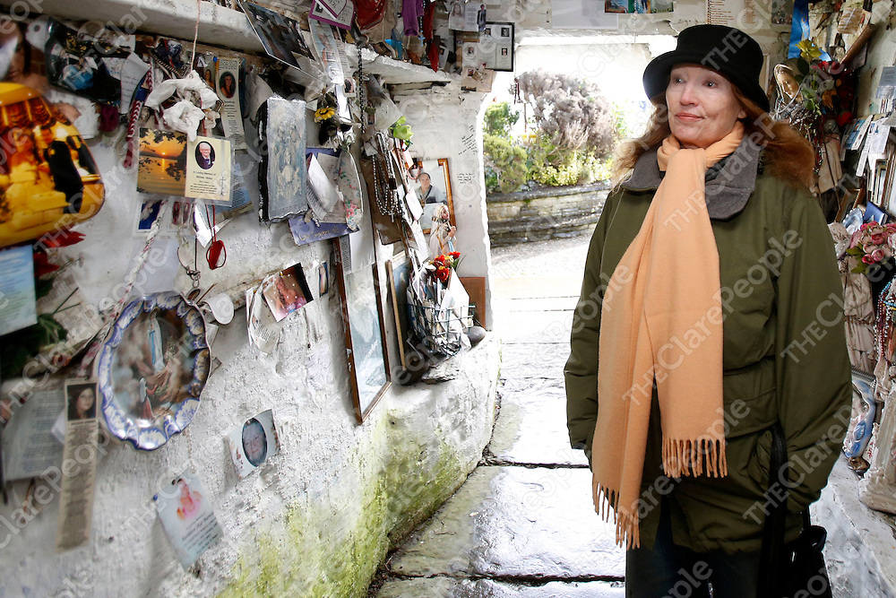 01/02/2013<br /> Marcia Cunningham pictured at St Brigid&Otilde;s Well at Liscannor, Co. Clare on St Brigid&Otilde;s Day.<br /> Picture: Don Moloney / Press 22<br /> 01/02/2013<br /> Marcia Cunningham pictured at St Brigid&rsquo;s Well at Liscannor, Co. Clare on St Brigid&rsquo;s Day.<br /> Picture: Don Moloney / Press 22