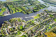 Nederland, Friesland, Gemeente Tietjerksteradeel, 10-10-2014; Eernewoude gelegen op de grens van Nationaal Park De Alde Feanen (De Oude Venen). Zicht op bungalowpark It Wiid.<br /> Camping and recreation park in nature reserve and National Park De Alde Feanen (Old Peat Area), Eernewoude. Culture landscape, partly resulting from peat digging. Northern Netherlands. <br /> luchtfoto (toeslag op standard tarieven);<br /> aerial photo (additional fee required);<br /> copyright foto/photo Siebe Swart