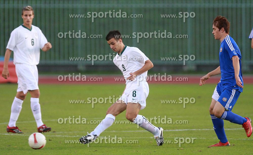 Mitja Viler of Slovenia during the Qualifications for UEFA U-21 EC 2009 soccer match between Slovenia and Finland at Velenje stadion At lake, on September 9,2008, in Velenje, Slovenia.  (Photo by Vid Ponikvar / Sportal Images)