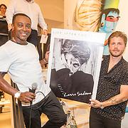 NLD/Amsterdam/20160825 - Life after Football Art Issue launch, Lasse Schöne ontvangt de 1e uitgave