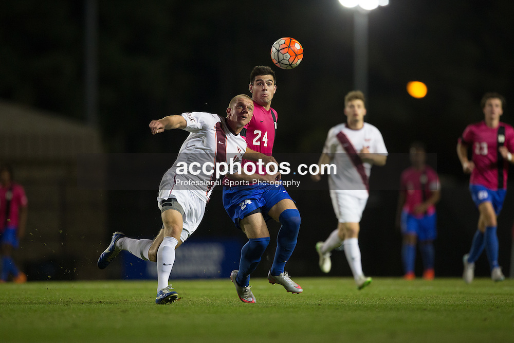 2015 October 30: Brian White #24 of the Duke Blue Devils during a 2-1 win over the Virginia Tech Hokies at Koskinen Stadium in Durham, NC.