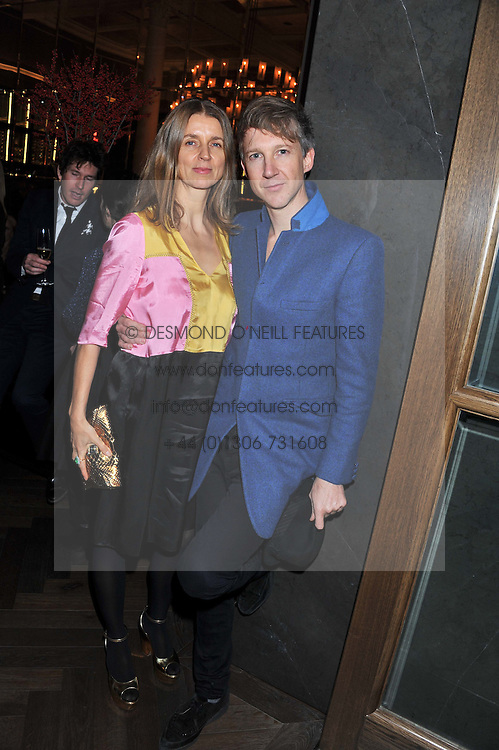 KARLA OTTO and JEFFERSON HACK at a dinner hosted by Pablo Ganguli and Ella Krasner to celebrate the 10th Anniversary of Liberatum and in honour of Sir Peter Blake held at The Corinthia Hotel, Nortumberland Avenue, London on 23rd November 2011.