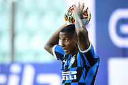 Inter's English midfielder Ashley Young takes a throw in during the Serie A match at Stadio Ennio Tardini, Parma. Picture date: 28th June 2020. Picture credit should read: Jonathan Moscrop/Sportimage