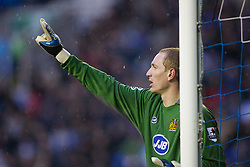 Wigan, England - Sunday, January 21, 2007: Wigan Athletic's goalkeeper Chris Kirkland in action against Everton during the Premier League match at the JJB Stadium. (Pic by David Rawcliffe/Propaganda)