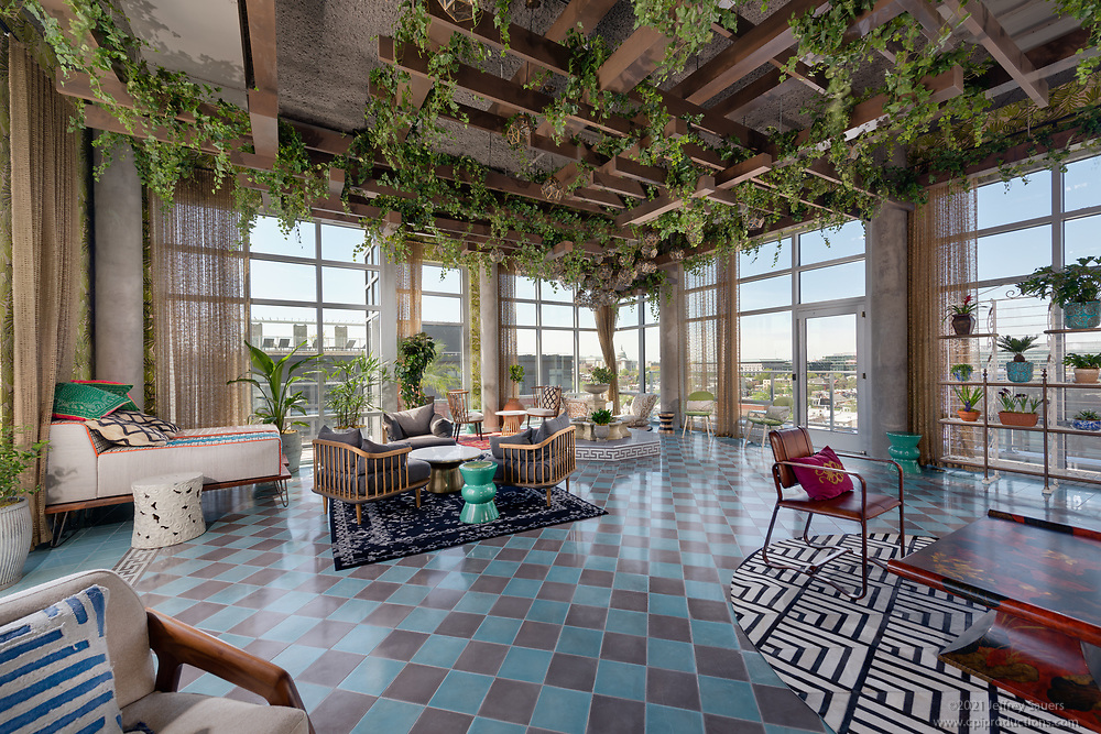 DC Apartment building The Apollo interior design image by Jeffrey Sauers of Commercial Photographics, Architectural Photo Artistry in Washington DC, Virginia to Florida and PA to New England