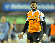 Cheetahs' Uzair Cassiem<br /> <br /> Photographer Mike Jones/Replay Images<br /> <br /> Guinness PRO14 Round 14 - Cardiff Blues v Cheetahs - Saturday 10th February 2018 - Cardiff Arms Park - Cardiff<br /> <br /> World Copyright © Replay Images . All rights reserved. info@replayimages.co.uk - http://replayimages.co.uk