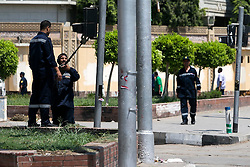 Bomb disposal experts comb the vicinity of the presidential palace in Cairo, Egypt, June 30, 2014. Two police officers were killed and several other security personnel were wounded in two blasts near the presidential palace in Cairo. No group has yet claimed responsibility for the attacks. EXPA Pictures © 2014, PhotoCredit: EXPA/ Photoshot/ Cui Xinyu<br /> <br /> *****ATTENTION - for AUT, SLO, CRO, SRB, BIH, MAZ only*****