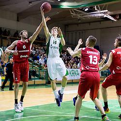 20140225: SLO, Basketball - EuroChallenge, KK Krka Novo mesto vs Reggio Emilia