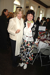 Left to right, LADY ANNABEL ELLIOT and The Hon JANE ORMSBY GORE at a lunch in aid of African Solutions To African Problems held at Il Bottaccio, 9 Grosvenor Place, London on 20th May 2008.<br />