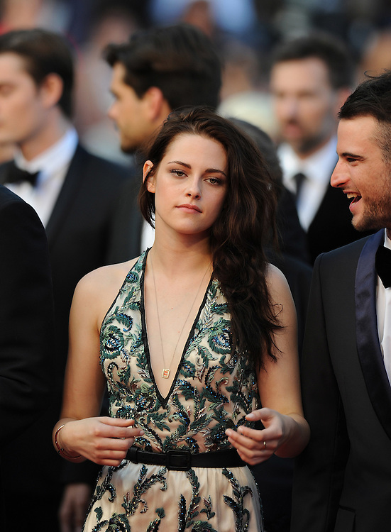 Actress  Kristen Stewart during the Red Carpet of 'On The Road' at  65th Annual Cannes Film Festival at Palais des Festivals on May 23, 2012 in Cannes, France..Photo Ki Price.