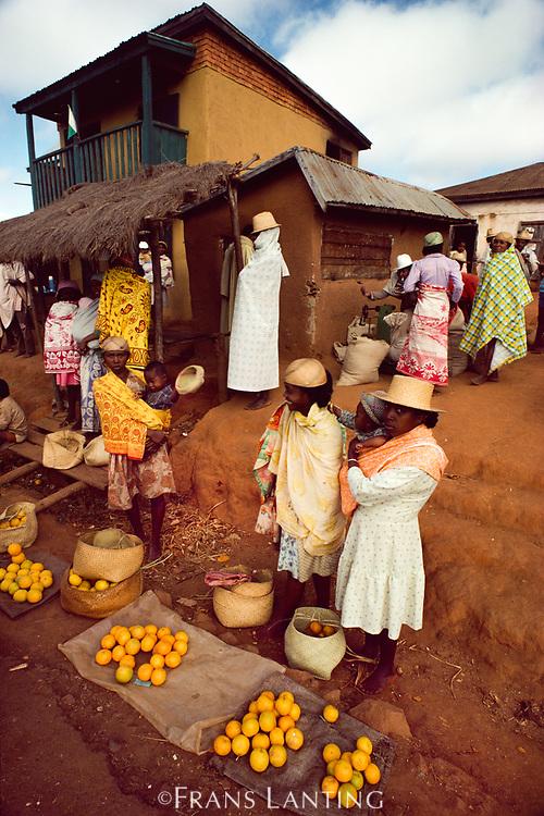 Market scene, Ambalamanarana, Central Madagascar
