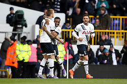 Danny Rose of Tottenham Hotspur celebrates with Eric Dier of Tottenham Hotspur after scoring the winning goal against Swansea City - Mandatory byline: Robbie Stephenson/JMP - 28/02/2016 - FOOTBALL - White Hart Lane - Tottenham, England - Tottenham Hotspur v Swansea City - Barclays Premier League