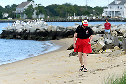 At the bayside people enjoy outdoor activities during a long Labor Day weekend at Deal Island, Maryland on September 2, 2018. The American public holiday of Labor Day, on the first Monday in September is considered the unofficial end of Summer.
