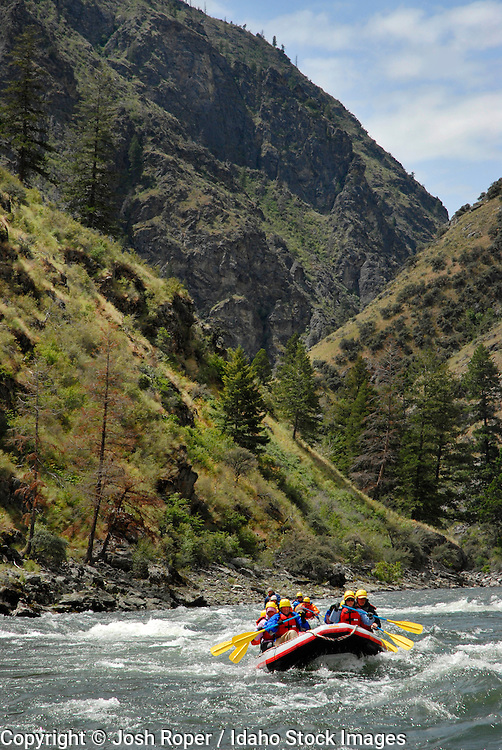 Idaho, Middle Fork of the Salmon River. Rafting on the Middle fork of the Salmon river is an exciting adventure with breathtaking scenery.