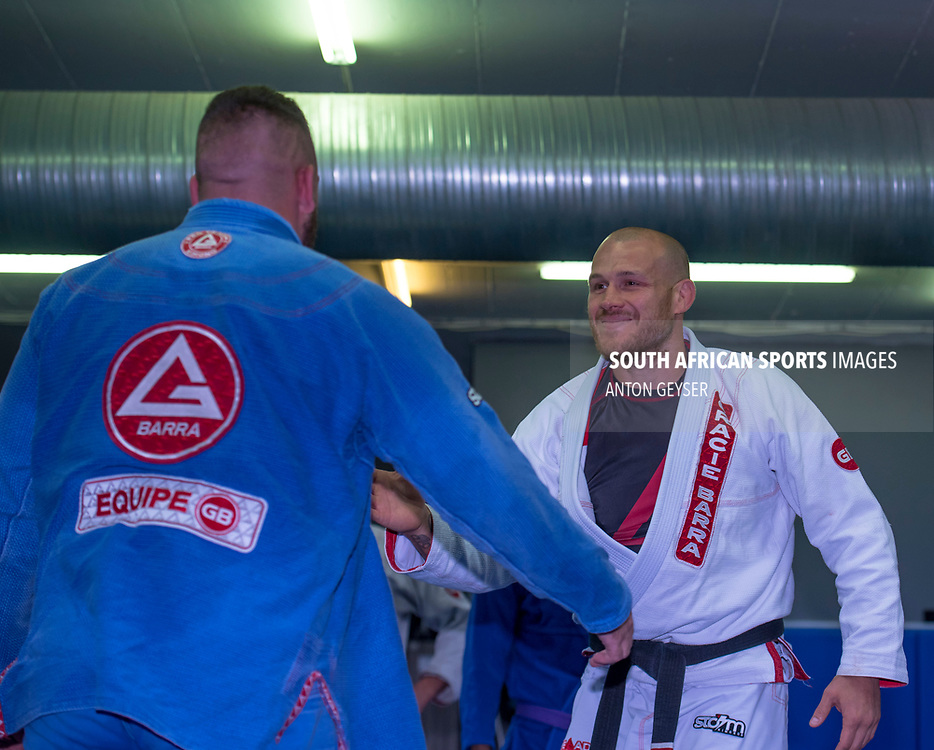 JOHANNESBURG, SOUTH AFRICA - NOVEMBER 11: Genaral view during the Brazilian Jiu-Jitsu grading at Fight Fit Militia Headquarters on November 11, 2017 in Johannesburg, South Africa. (Photo by Anton Geyser/Gallo Images)