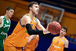 Blaz Mahkovic KK Helios Suns during 9. round of Slovenian national championship between teams Helios Suns and Zlatorog Lasko in Sport Hall Domzale on 30. November 2019, Domzale, Slovenija. Grega Valancic / Sportida
