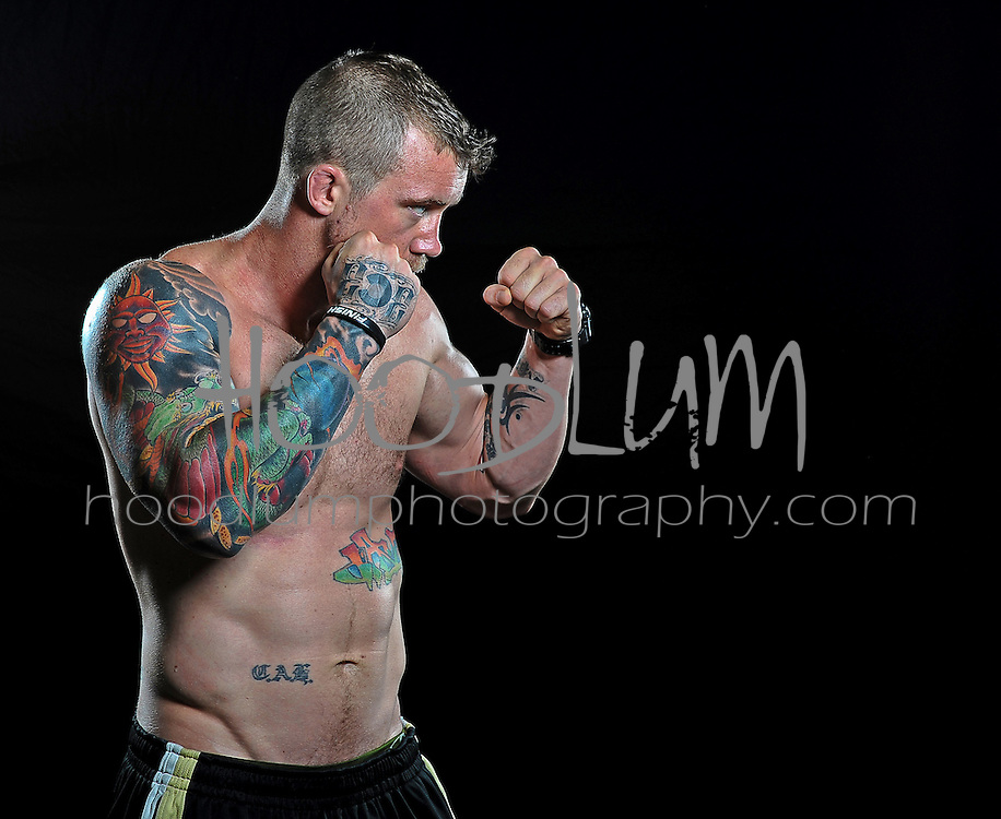 "Portrait of MMA Cage Fighter Jason ""The Dragon"" lee taken for Prize Fighting Championship"