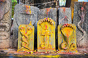 KADIRI, INDIA - 03rd November 2019 - Hindu shrine at Kadiri temple, Andhra Pradesh, South India.