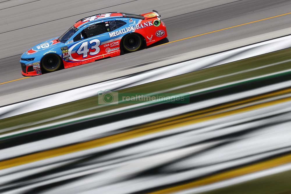 July 13, 2018 - Sparta, Kentucky, United States of America - Darrell Wallace, Jr (43) brings his race car down the front stretch during practice for the Quaker State 400 at Kentucky Speedway in Sparta, Kentucky. (Credit Image: © Chris Owens Asp Inc/ASP via ZUMA Wire)