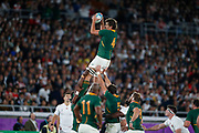 Eben Etzebeth of South Africa catches the ball in the line out during the World Cup Japan 2019, Final rugby union match between England and South Africa on November 2, 2019 at International Stadium Yokohama in Yokohama, Japan - Photo Yuya Nagase / Photo Kishimoto / ProSportsImages / DPPI