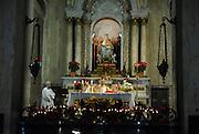 Israel, Haifa, midnight mass at Stella Maris Carmelite Church, Mt. Carmel December 31st 2007