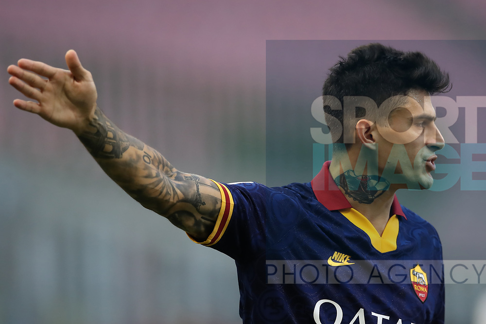 AS Roma's Argentinian striker Diego Perotti reacts during the Serie A match at Giuseppe Meazza, Milan. Picture date: 28th June 2020. Picture credit should read: Jonathan Moscrop/Sportimage
