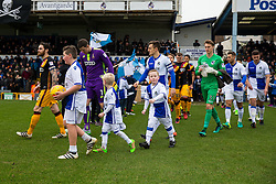 Tom Lockyer of Bristol Rovers leads out the teams - Rogan Thomson/JMP - 11/02/2017 - FOOTBALL - Memorial Stadium - Bristol, England - Bristol Rovers v Bradford City - Sky Bet League One.