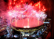 2/28/10 8:00:37 PM -- Vancouver, BC, <br /> -- Overlooking BC Place - Closing ceremonies, Vancouver 2010 Winter Olympics -  -- Fireworks burst over BC Place Stadium as the Winter Olympics come to a close.<br /><br /><br />Photo by H. Darr Beiser, USA TODAY Staff