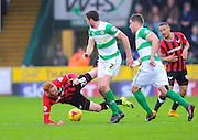 Oxford Utd's Ryan Taylor, Yeovil Town's Ben Tozer and Yeovil Town's Jakub Sokolik during the Sky Bet League 2 match between Yeovil Town and Oxford United at Huish Park, Yeovil, England on 28 December 2015. Photo by Graham Hunt.